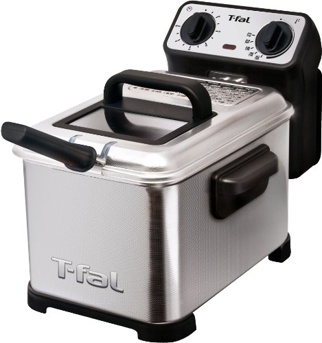T-fal FR4049 Family Pro 3-Liter Oil Capacity Electric Deep Fryer with Stainless Steel Waffle,...
