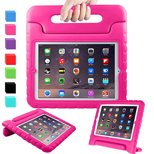AVAWO Kids Case for 9.7' iPad 2 3 4 (Old Model) - Light Weight Shock Proof Convertible Handle Stand...
