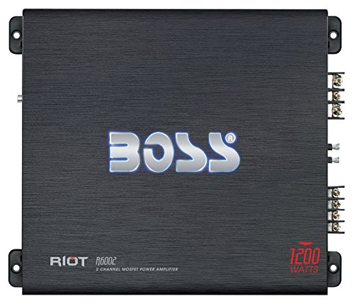 BOSS Audio Systems R6002 - Riot 1200 Watt, 2 Channel, 2 4 Ohm Stable Class AB, Full Range,...