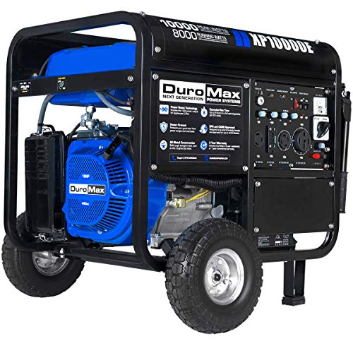 DuroMax XP10000E Gas Powered Portable Generator-10000 Watt Electric Start-Home Back Up & RV Ready,...