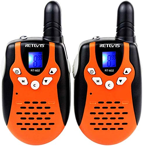 Retevis RT-602 Kids Walkie Talkies Rechargeable 22 Channel FRS VOX 2 Way Radio for Kids (Orange, 1...