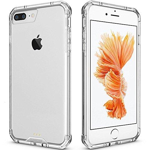 iPhone 7 Plus Case Clear, iPhone 8 Plus Case, Pajuva PC+TPU Transparent Case Thin for iPhone 7/8...