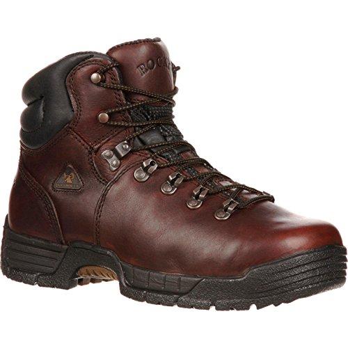Rocky Men's Mobilite Six Inch Steel Toe Work Boot,Brown,12 W US
