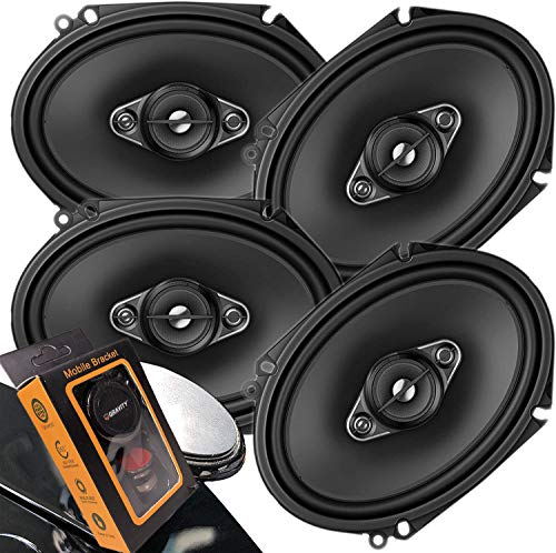 4 x Pioneer TS Series 350W Max 6' x 8' A-SERIES 4-Way Coaxial Car Speakers with Gravity Magnet Phone...
