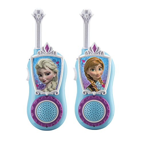 eKids Disney Frozen Chill 'n' Chat Anna & Elsa Character FRS Walkie Talkies Easy to Use & Static...