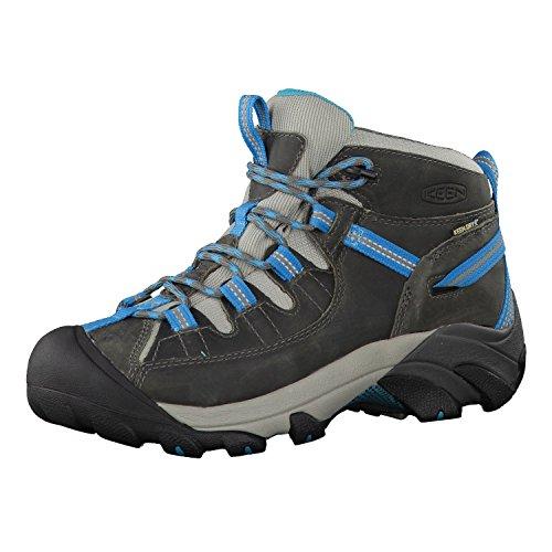 KEEN Women's Targhee 2 Mid Height Waterproof Hiking Boot, Gargoyle/Caribbean Sea, 9.5 M (Medium) US