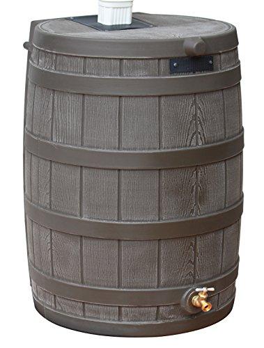 Good Ideas RW40-OAK Rain Wizard Rain Barrel 40-Gallon, Oak