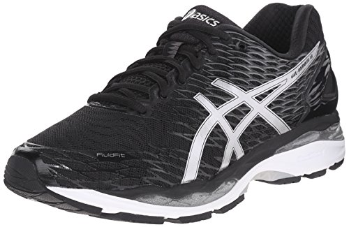 ASICS Men's Gel Nimbus 18 Running Shoe, Black/Silver/Carbon, 6.5 M US