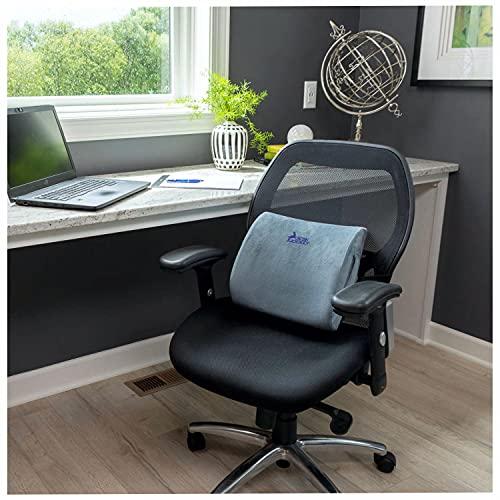 Lumbar Support Pillow for Chair – Adjustable Memory Foam Pillow Car Seat Cushion – Self Molding...