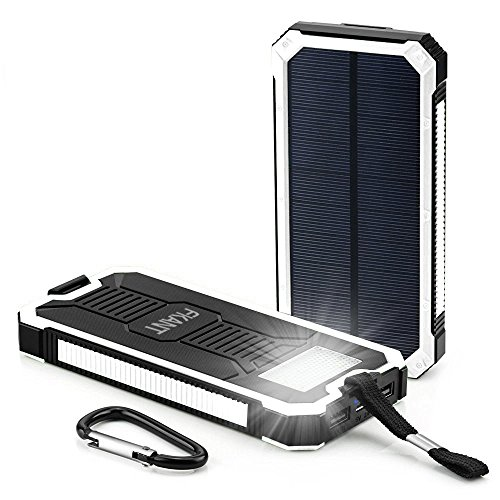 Solar Charger, FKANT 15000mAh Portable Dual USB Solar Battery Charger External Battery Pack Phone...