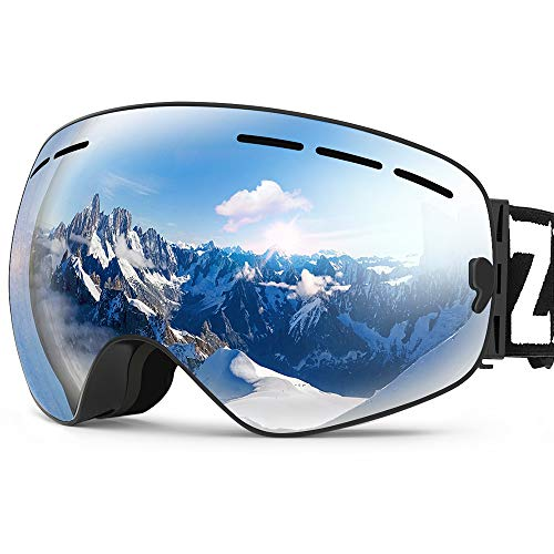 ZIONOR X Ski Snowboard Snow Goggles OTG Design for Men Women with Spherical Detachable Lens UV...