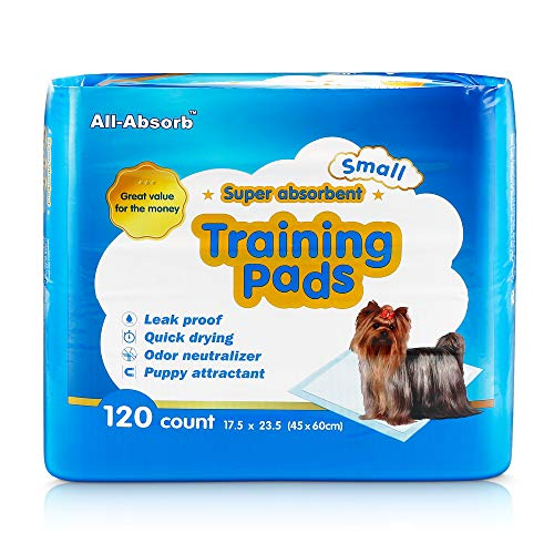 All-Absorb A05 120 Count Training Pad, 17.5 by 23.5-Inch, White and Blue,Pack of 120