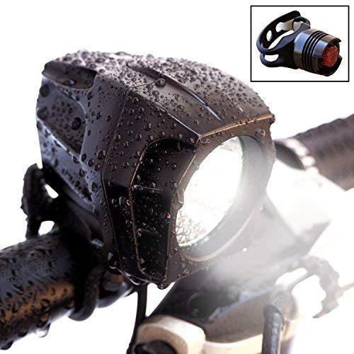 Bright Eyes Fully Waterproof 1600 Lumen Rechargeable Mountain, Road Bike Headlight, 6400mAh Battery...