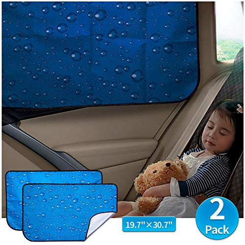 aokway Car Sun Shade Car Window Shade Double Thickness Rear Side Window Auto Sunshades Universal Fit...