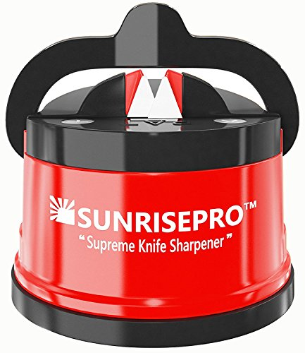 SunrisePro Supreme Knife Sharpener | afilador de cuchillos for all Blade Types | Razor Sharp...