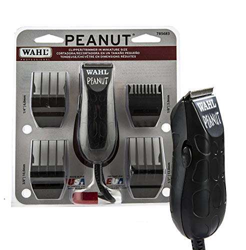 Wahl Professional Peanut Clipper/Trimmer #8655-200, Black - Great On-the-Go Trimmer for Barbers and...