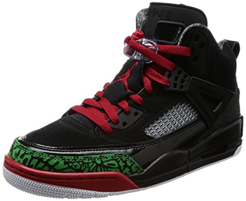 Nike Mens Air Jordan Spizike Basketball Shoes (10.5, Black/Classic Green-White-Varsity Red)