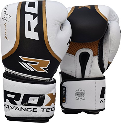 RDX Optimier Boxing Gloves Muay Thai Training Genuine Cow Hide Leather Sparring Punching Bag Mitts...