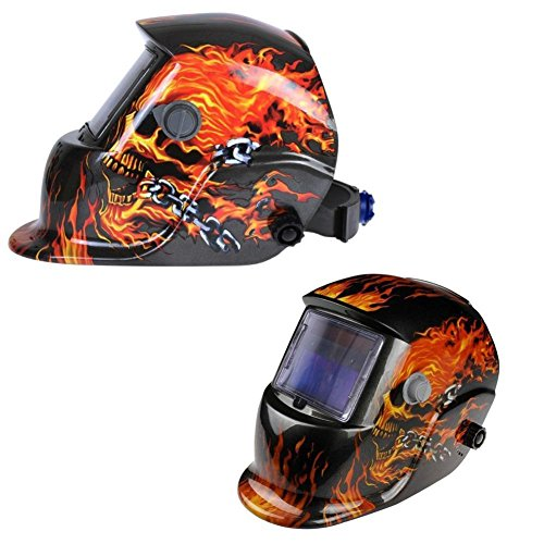 XtremepowerUS Auto-Darkening Solar Powered Welding Helmet (Ghost Rider)