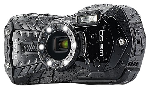 Ricoh WG-50 16MP Waterproof Still/Video Camera Digital with 2.7' LCD, (Black)