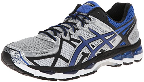 ASICS Men's Gel-Kayano 21 Running Shoe,Lightning/Royal/Black,7.5 M US