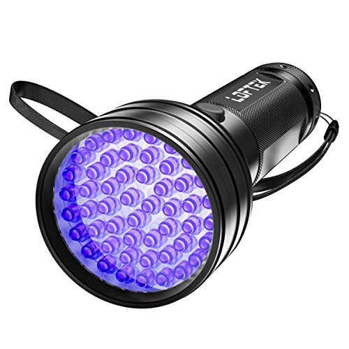 LOFTEK UV Flashlight Black Light, 51 LED 395 nM Ultraviolet Flashlight Perfect Detector for Pet (Dog...
