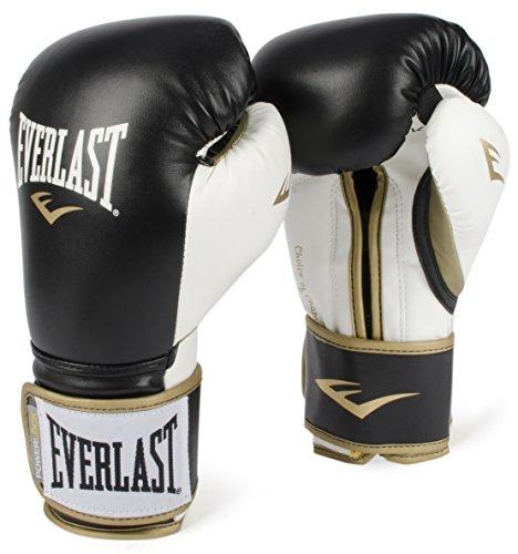 Everlast PowerLock Training Gloves blk/Wht PowerLock Training Gove, Black/White, 16 oz