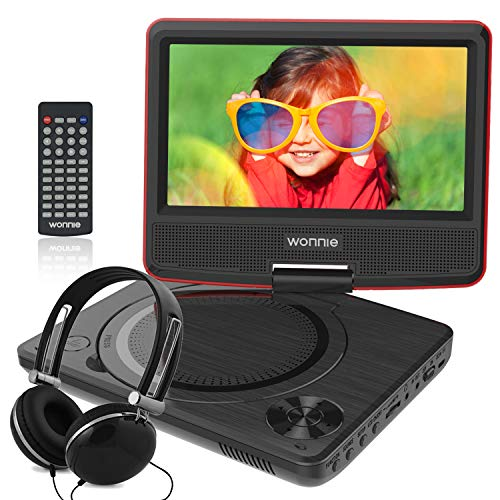 WONNIE 7.5 Inch Portable DVD Player with Swivel Screen, USB / SD Slot and 4 Hours Rechargeable...