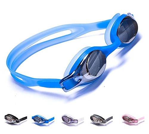 Aguaphile Junior Swimming Goggles for Kids and Early Teens, Soft and Comfortable, Mirrored Anti-Fog...