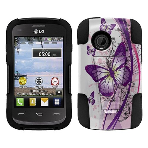 LG 306G 305C Aspire LN280 Case, Fincibo (TM) Hybrid Dual Layer Protector Cover Gel Silicone With Y...