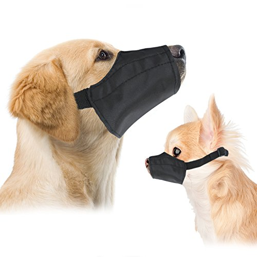 Small Quick Fit Dog Muzzle, Size 1, fit snout size 5', by Downtown Pet Supply
