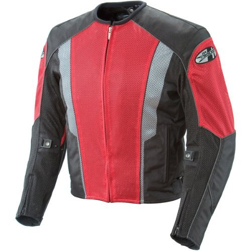 Joe Rocket Phoenix 5.0 Men's Mesh Motorcycle Riding Jacket (Red/Black, Small)