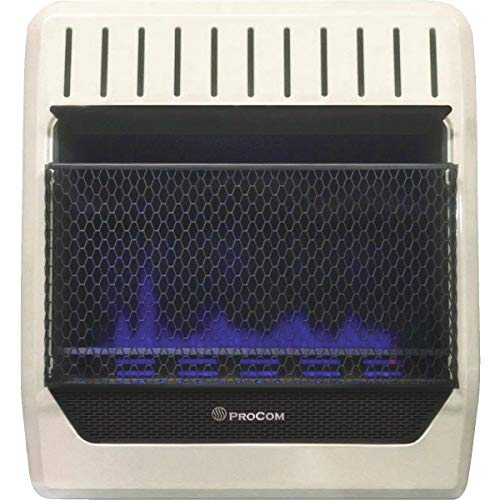 PROCOM HEATING MGT20BF 20,000 BTU Dual Fuel Blue Flame Gas Wall Heater