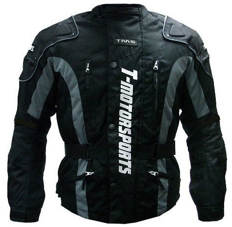 TMS Enduro Armor Jacket Motorcycle Touring Dual Sport Dirt Bike ATV (Large, Black)
