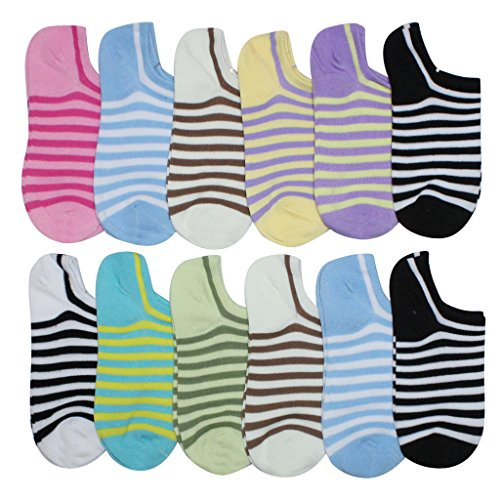 BEAR MUM Women's 12 Pairs Everyday Low Cut/No Show Causal Socks