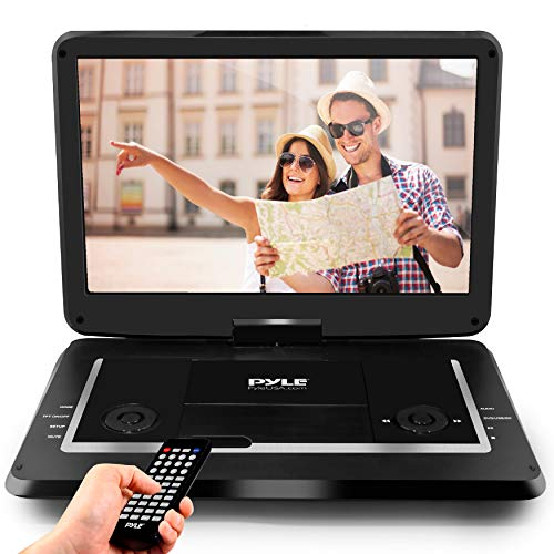 """Pyle 17.9"""" Portable DVD Player, With 15.6 Inch Swivel Adjustable Display Screen, USB/SD Card..."""