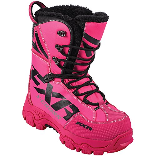 FXR X Cross Lace Boot Authentic Durable Lightweight Toe Kick Snocross Snowmobile - Fuchsia - Womens...