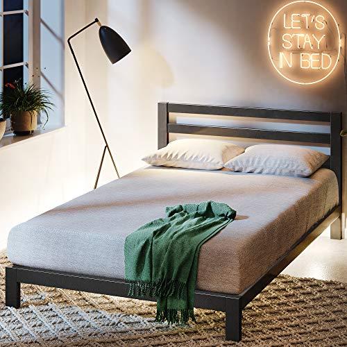 ZINUS Arnav Metal Platform Bed Frame with Headboard / Wood Slat Support / No Box Spring Needed /...