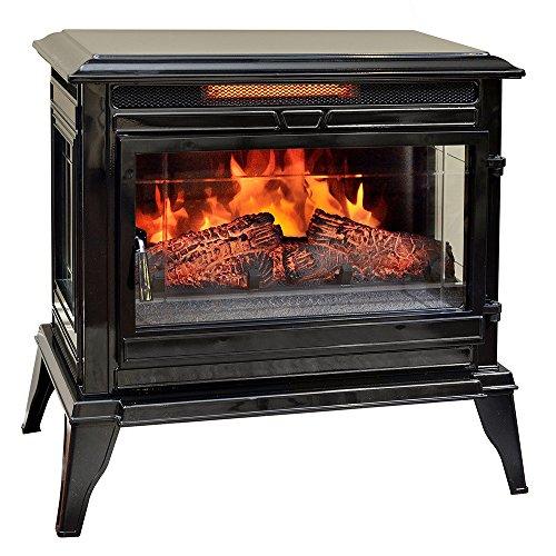 Comfort Smart Jackson Infrared Electric Fireplace Stove Heater, Black - CS-25IR-BLK