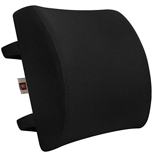 LOVEHOME Lumbar Support Pillow for Chair and Car, Memory Foam Back Cushion for Back Pain Relief -...