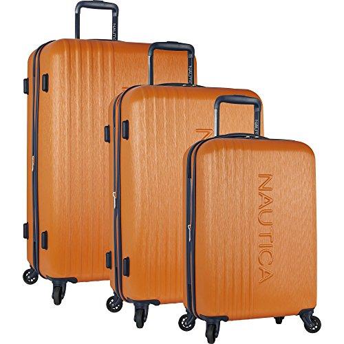Nautica 3 Piece Hardside 4-Wheeled Luggage Set, Cobalt Blue