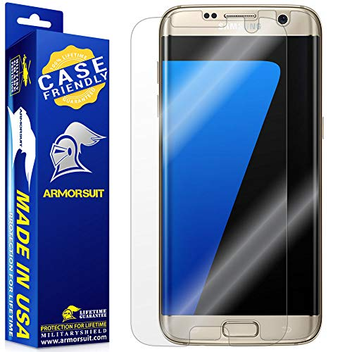 Armorsuit MilitaryShield - Samsung Galaxy S7 Edge Screen Protector [Case Friendly] w/ Lifetime...