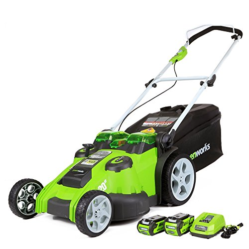 Greenworks 40V 20 Inch Cordless Twin Force Lawn Mower, 4Ah & 2Ah Batteries with Charger Included,...