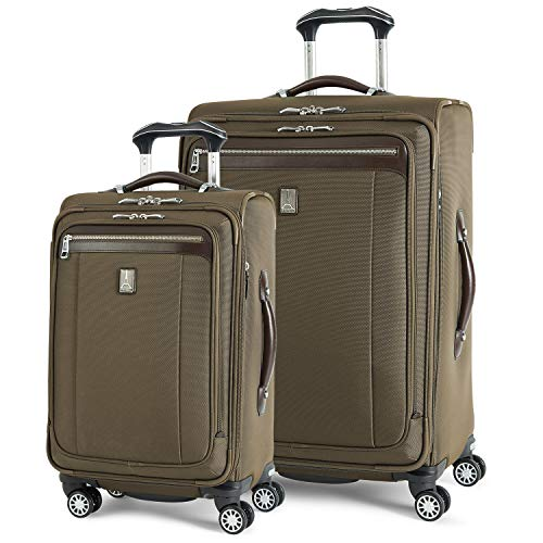 Travelpro Platinum Magna 2-Softside Expandable Spinner Wheel Luggage, Olive