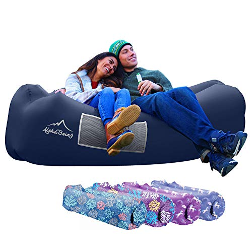 AlphaBeing Inflatable Lounger - Best Air Lounger for Travelling, Camping, Hiking - Ideal Inflatable...