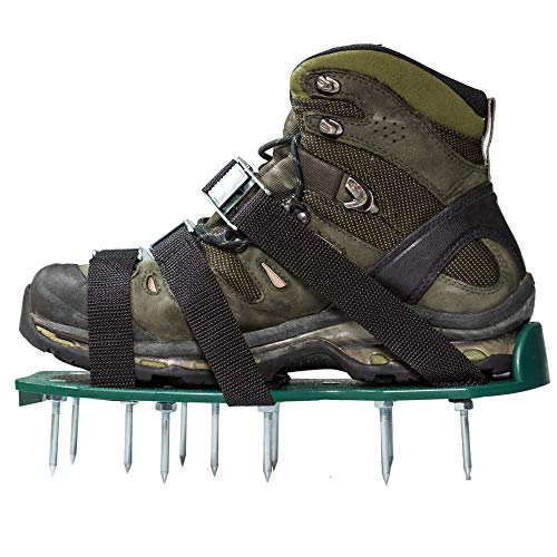 Punchau Lawn Aerator Shoes w/Metal Buckles and 3 Straps - Heavy Duty Spiked Sandals for Aerating...