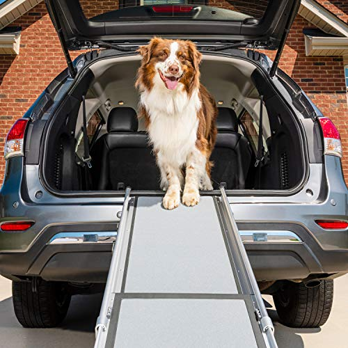 PetSafe Happy Ride Deluxe Telescoping Pet Ramp - 72 Inch, Portable, Lightweight, Aluminum Dog and...