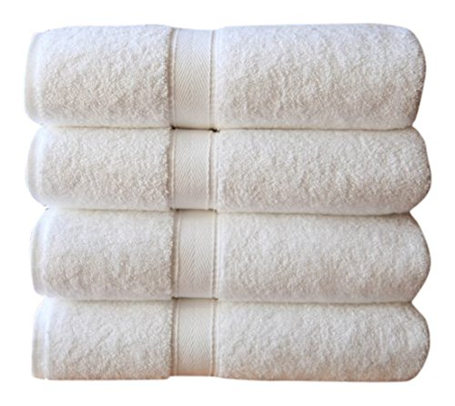 Linum Home Textiles Luxury Hotel Collection 100% Turkish Cotton Terry Bath Towels (Set of 4)