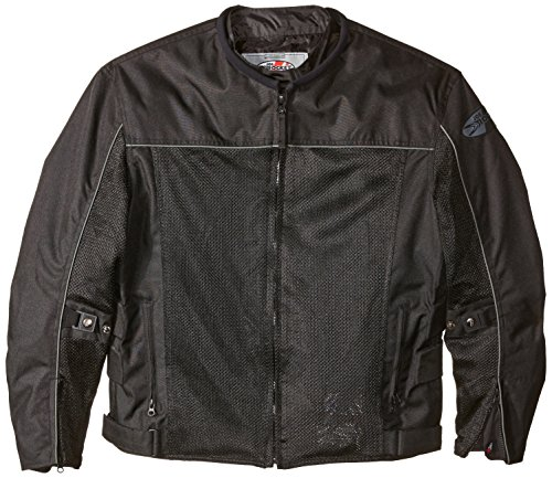 Joe Rocket 1254-0005 Velocity Men's Mesh Riding Jacket (Black, X-Large)