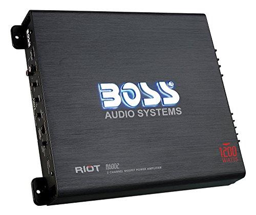 BOSS Audio Systems R6002 - Riot 1200 Watt, 2 Channel, 2 4 Ohm Stable Class AB, Full Range,...